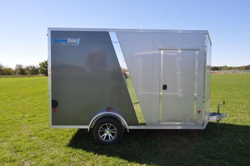 2018 All Aluminum 7 x 12 Enclosed Cargo Trailer w/ 7 ft Interior