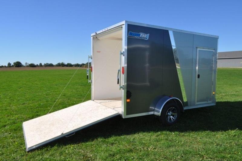 2018 All Aluminum 7 x 12 Enclosed Cargo Trailer w/ 7 ft Interior