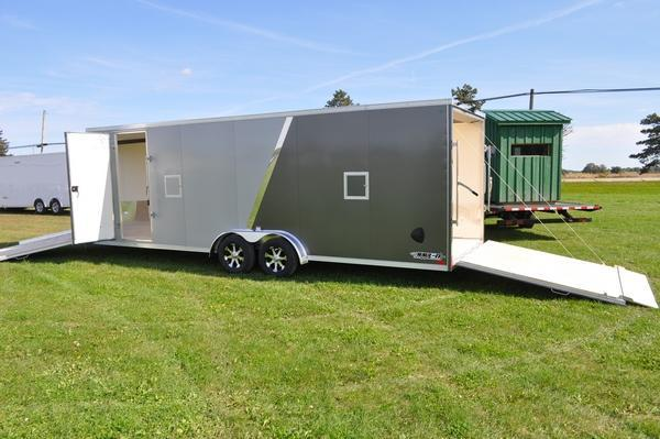 2020 Haul-it All Aluminum 7.5 x 29 Inline 7FT Tall Snowmobile Trailer For Sale