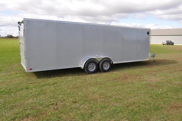 2020 Haul-it All Aluminum 7 x 29 Inline Snowmobile Trailer For Sale