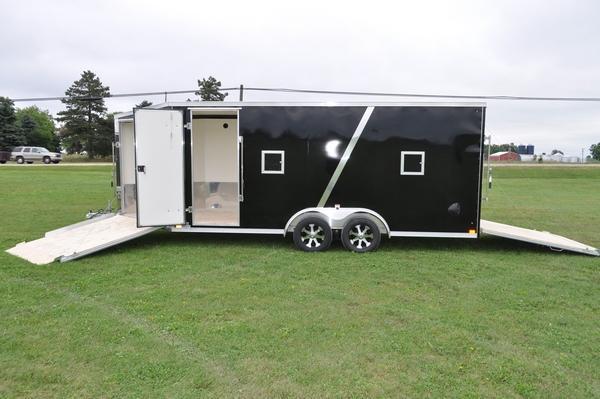 2020 Haul-it 7.5' x 23' All Aluminum Snowmobile Trailer For Sale
