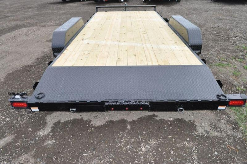 2019 Sure-Trac 7 x 18 Wood Deck Car Trailer For Sale