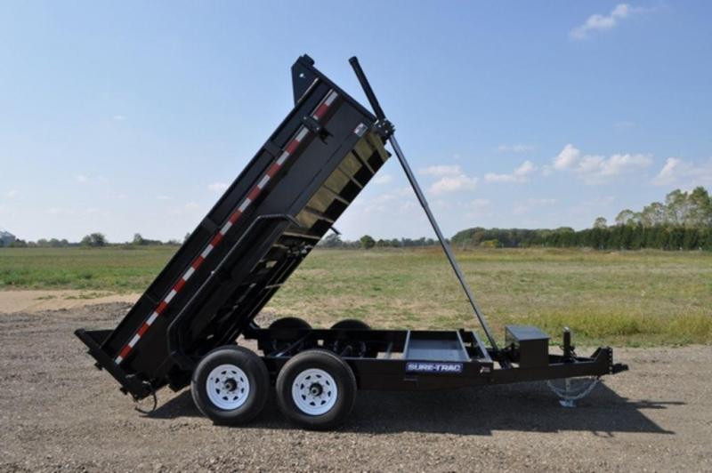 """2020 Sure-Trac 82"""" x 12' Telescopic Dump Trailer For Sale"""