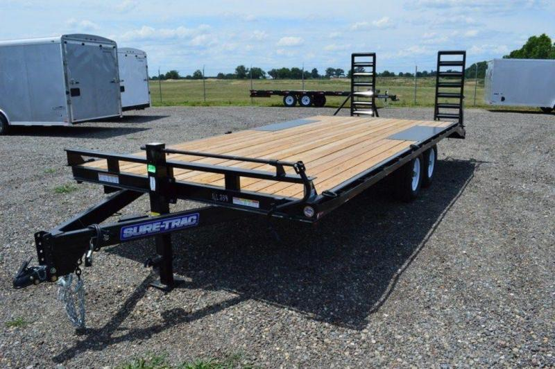 2019 Sure-Trac 8.5 x 17 + 3 Deckover Trailer w/ Beavertail For Sale