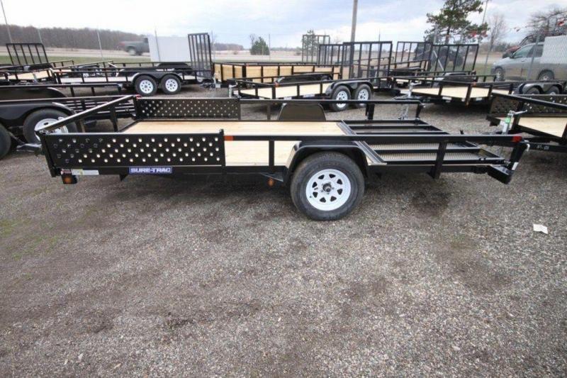 2019 Sure-Trac 82' x 14' Open ATV Side Loading Utility Trailer For Sale