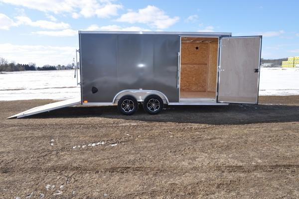 2020 Haul-it All Aluminum 8.5 x 16 Wedge Nose Enclosed Cargo Trailer For Sale