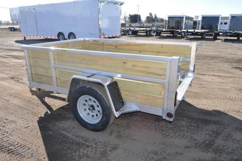 2020 All Aluminum 5 x 8 4 Board High Utility Trailer For Sale