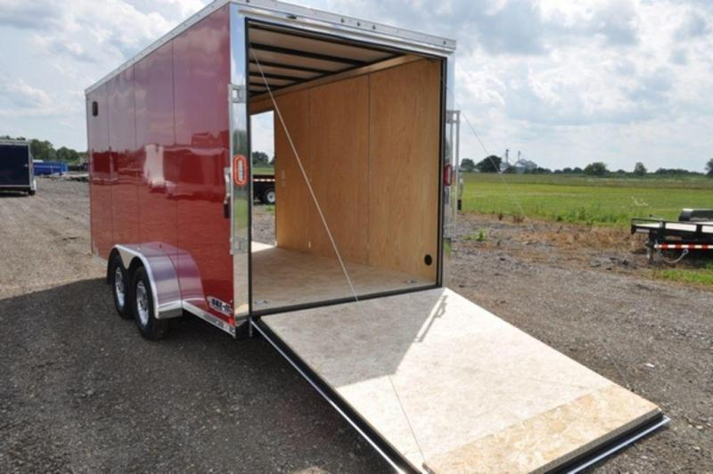2019 Haul-It 7 x 16 Red Enclosed Cargo Trailer For Sale