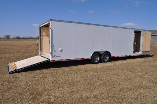 2019 American Hauler 8.5 x 28 Wedge Nose Car / Racing Trailer For Sale