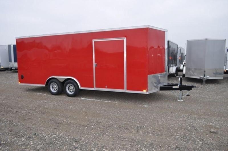2019 Haul-It 8.5 x 20 Red Enclosed 10K Car Trailer for Sale