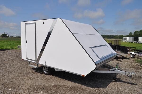 2020 Sport Haven 13' All Aluminum Deluxe Hybrid Snowmobile Trailer For Sale