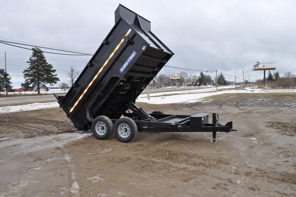 2020 Sure-Trac 82 IN X 12 LP 14K Scissor Dump 4ft Side For Sale