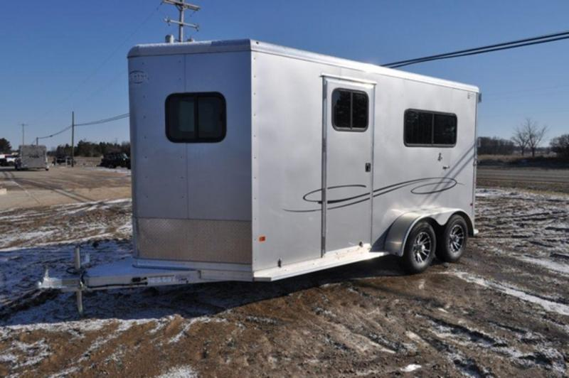 2019 Frontier Ambassador 2 Horse Straight Load All Aluminum Trailer For Sale