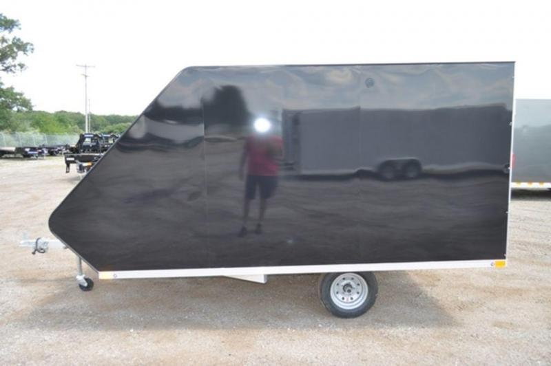 2019 All Aluminum Enclosed 2 Place 12 ft Hybrid Snowmobile Trailer For Sale