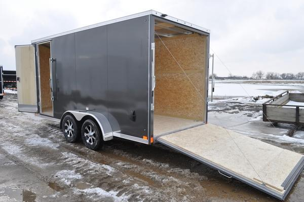 2020 Haul-it 7 x 16 All Aluminum Enclosed Cargo Trailer For Sale