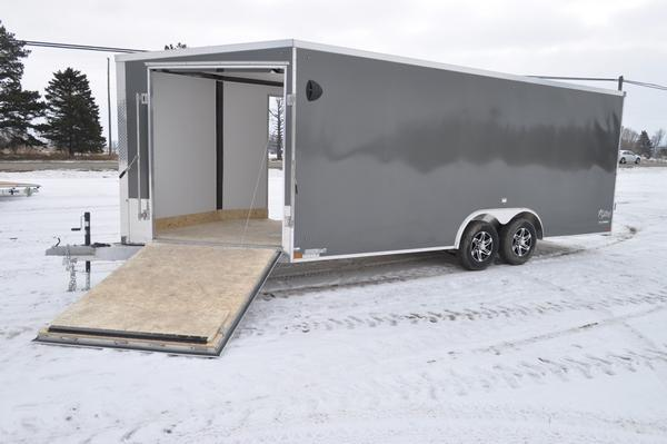 2021 Stealth Trailers All Aluminum 8.5 x 20 + 5 10K Combo Trailer Snowmobile Trailer For Sale
