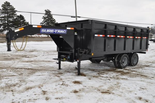 2020 Sure-Trac 96 IN x 16 DO 25.9K Goose Scissor Dump Trailer for Sale