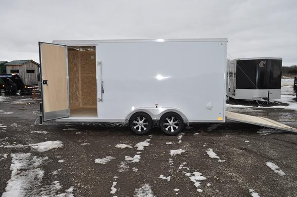 2020 Haul-it 7 x 16 All Aluminum 7' Tall Enclosed Cargo Trailer For Sale