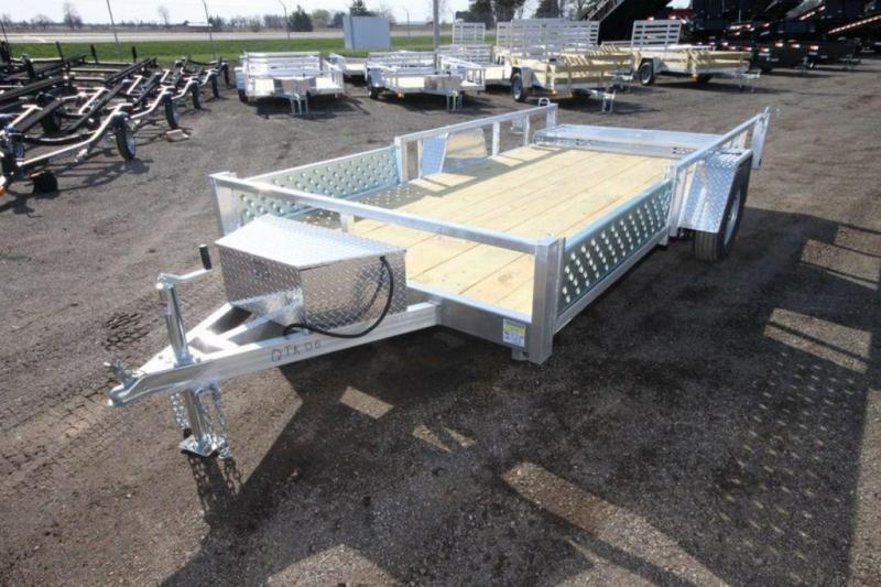 2020 All Aluminum 7 x 14 Single Axle ATV Trailer For Sale