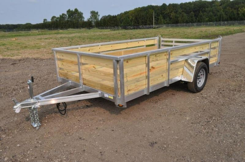 "2020 All Aluminum Tube Top 80"" x 12 3 Board High Utility Trailer For Sale"