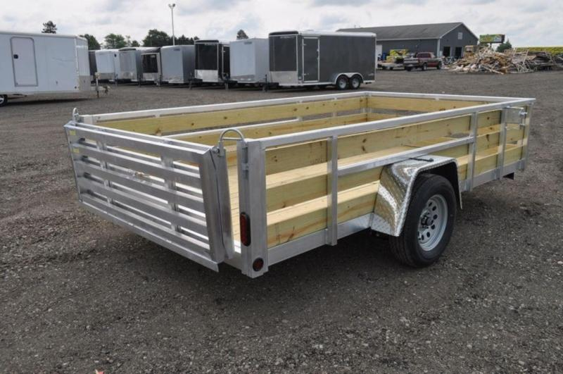 """2020 All Aluminum Tube Top 80"""" x 12 3 Board High Utility Trailer For Sale"""
