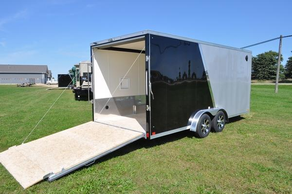 2020 Haul-it 7.5 x 23 All Aluminum Snowmobile Trailer W/7' Interior For Sale