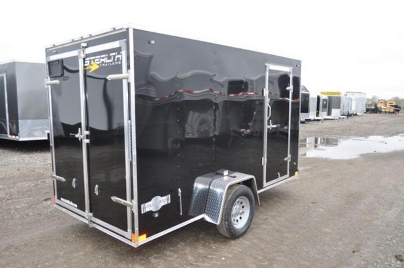 2020 Stealth 6 x 12 Enclosed Cargo Trailer w/ Barn Door For Sale and Extra Height