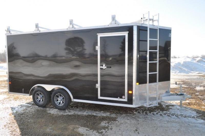 2019 All Aluminum 8.5 x 16 Enclosed 10K Construction Trailer for Sale