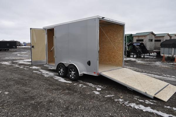 2020 Haul-it 7 x 14 All Aluminum 7' Tall Enclosed Cargo Trailer For Sale
