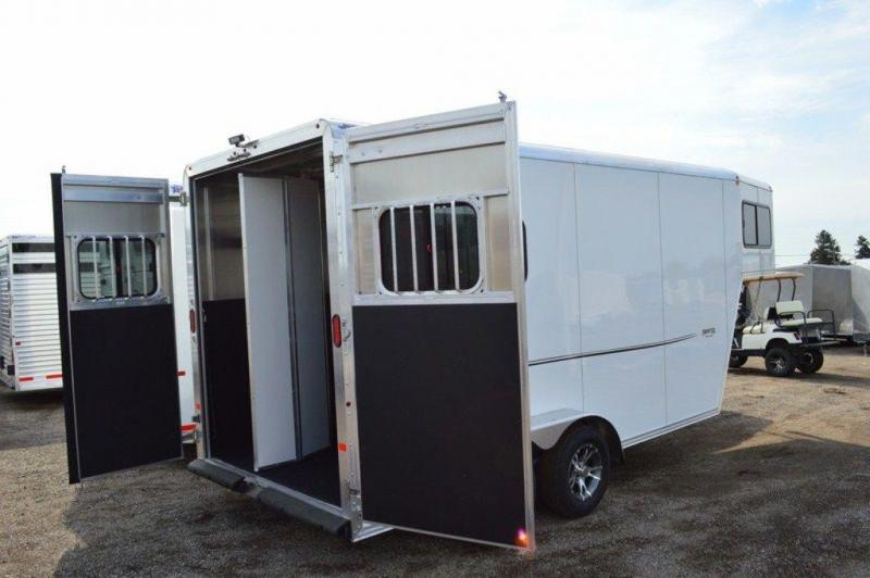 2017 Frontier Strider Series 2 Horse All Aluminum Gooseneck Trailer For Sale