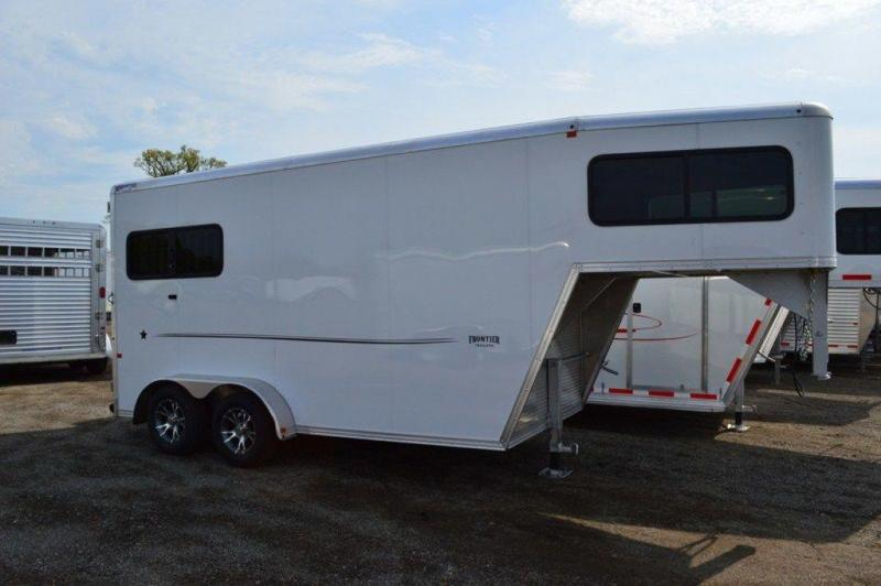2017 Frontier Strider Series 2 Horse All Aluminum Gooseneck Trailer For Sale