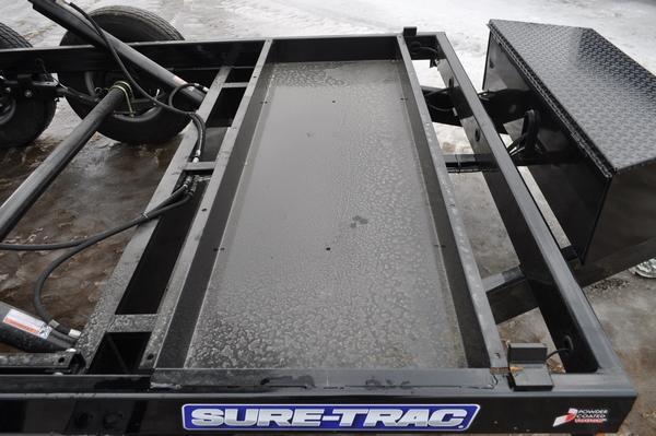 "2020 Sure-Trac 82"" x 12' Powder Coated Low Profile Dump Trailer For Sale"