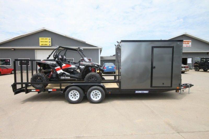 2019 Sure-Trac 7 x 24 Cargo Trailer w/ Rear Garage