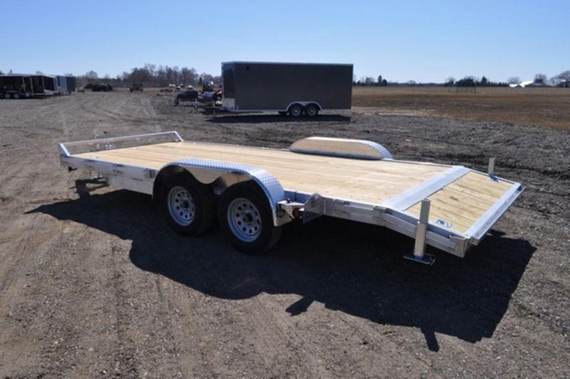 2020 All Aluminum 7 x 18 Open Car Trailer For Sale