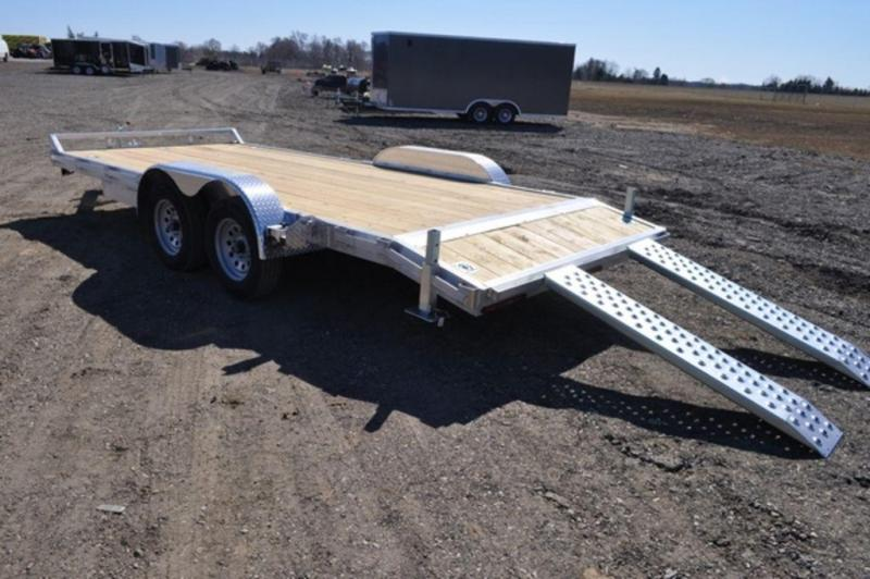 2020 All Aluminum 7 x 18 Open Car Trailer For Sale