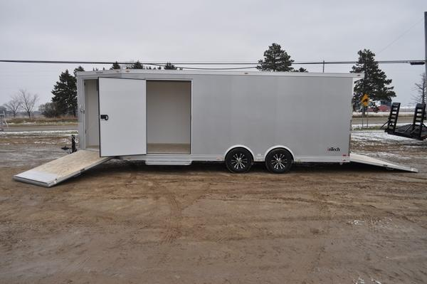 2020 inTech Trailers All Aluminum 8.5 x 20 +5 Combo Snowmobile Trailer For Sale