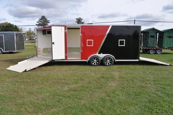 2020 Haul-it 7.5 x 23 All Aluminum 7 FT Tall Snowmobile Trailer For Sale