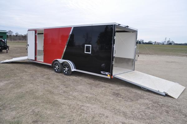 2020 Haul-it All Aluminum 7.5 x 29 Enclosed Snowmobile Trailer For Sale