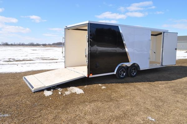 2020 Haul-it All Aluminum 8.5 x 20 Two Tone Wedge Nose Car / Racing Trailer For Sale