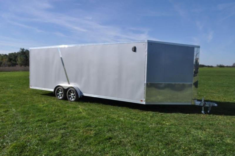 2019 Haul-It 7.5 x 29 All Aluminum Snowmobile Trailer w/ 7' Interior For Sale