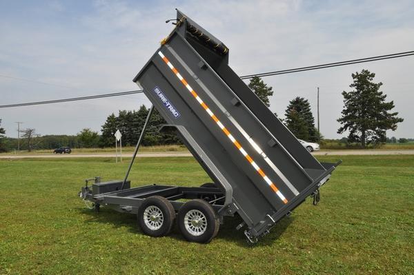 "2020 Sure-Trac 82"" x 12' Telescopic Dump W/4'Sides Dump Trailer For Sale"