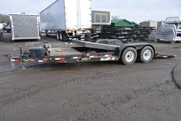 2010 Doolittle Trailer Mfg 7 x 16 + 4 Open Tilt Equipment Trailer For Sale