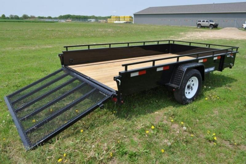 2019 Sure-Trac 82 x 12 Steel Side Utility Trailer For Sale