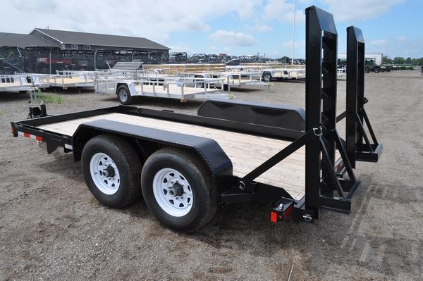 2019 Sure-Trac 7 x 14 H.D. Skid Steer Trailer Equipment Trailer