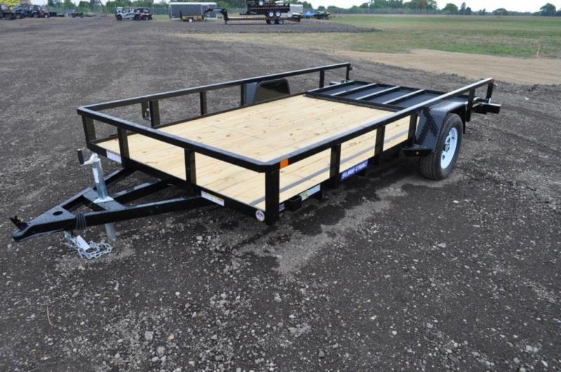 2019 Sure-Trac 7 x 14 Single Axle Powder Coated Utility Trailer For Sale