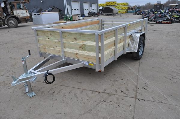 2021 Haul-it All Aluminum 6 x 10 Open 3 Board High Utility Trailer For Sale