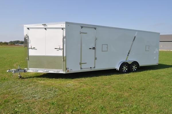 2020 Haul-it 7.5 x 29 All Aluminum Inline Snowmobile Trailer For Sale