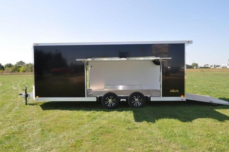 2019 inTech All Aluminum 8.5 x 22 Wedge Nose Car Trailer w/ Full Escape Door for Sale