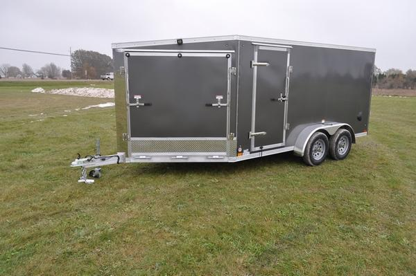 2020 Haul-it All Aluminum 7 x 19 2 Place Snowmobile Trailer For Sale