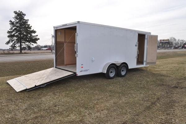 2020 American Hauler 7 x 18 Wedge Nose Enclosed Cargo Trailer For Sale